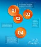 Círculos gráficos del Info con el lugar para su texto. libre illustration