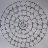 Círculos hechos de círculos y de elipses Imagenes de archivo