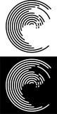 Círculos inacabados pretos & brancos Imagem de Stock