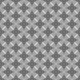 Círculos inconsútiles, anillos negros/modelo geométrico blanco ilustración del vector