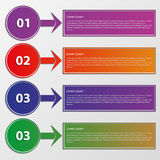 Círculos infographic de los rectángulos del ejemplo del vector Stock de ilustración