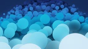Círculos lentamente móveis no azul ilustração royalty free