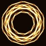 Círculos mágicos dourados Shinning do laser ilustração do vetor
