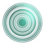 Círculos magnéticos na esmeralda Imagens de Stock