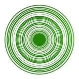 Círculos magnéticos no verde Fotos de Stock