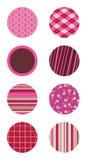 Círculos modelados color de rosa Imagen de archivo libre de regalías