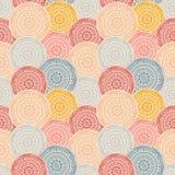 Círculos modelados coloridos, fondo inconsútil Fotos de archivo
