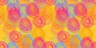 Círculos modelo inconsútil, fondo, ejemplo del garabato del vector de colores brillante libre illustration