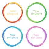 Círculos modernos coloridos del extracto del vector, marcos redondos, elementos del diseño, fondos Imagenes de archivo