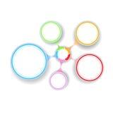 Círculos multicolores Fotografía de archivo libre de regalías