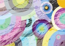 Círculos multicolores Imágenes de archivo libres de regalías