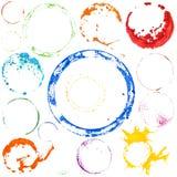 Círculos multicolores de la pintura del vector stock de ilustración
