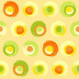 Círculos multicoloured do Grunge Foto de Stock