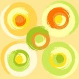 Círculos multicoloured do grunge grande Imagens de Stock