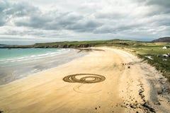 Círculos na areia foto de stock