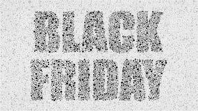 Círculos negros Black Friday, venta, descuentos ilustración del vector