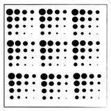 Círculos negros en el fondo blanco stock de ilustración