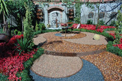 Círculos no jardim. Foto de Stock