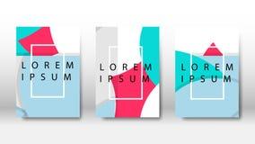 círculos o puntos del vector cubiertos en diseño del folleto stock de ilustración