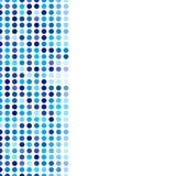 Círculos oscuros del fondo del mosaico y azules claros al azar stock de ilustración