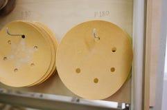 Círculos para las chorreadoras orbitales para la madera foto de archivo libre de regalías
