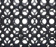 Círculos plásticos pretos foto de stock