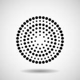 Círculos pontilhados sumário Pontos no formulário circular Foto de Stock