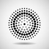 Círculos pontilhados sumário Pontos no formulário circular Fotos de Stock Royalty Free