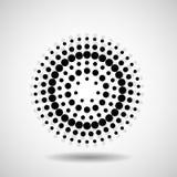 Círculos pontilhados sumário Pontos no formulário circular Fotografia de Stock
