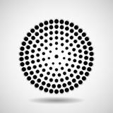 Círculos pontilhados sumário Pontos no formulário circular Foto de Stock Royalty Free