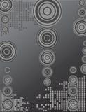 Círculos preto e branco Imagem de Stock Royalty Free