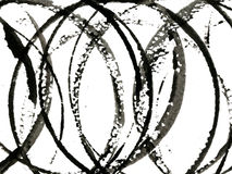 Círculos pretos imagem de stock royalty free