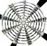 Círculos pretos do metal, fundo foto de stock