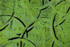 Círculos pretos e azuis abstratos em um fundo verde foto de stock