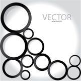 Círculos pretos Foto de Stock