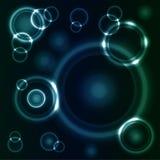 Círculos que brillan intensamente Fotos de archivo libres de regalías