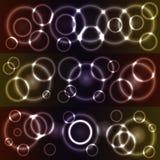 Círculos que brillan intensamente de Bokeh Imagen de archivo libre de regalías