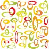 Círculos que se enclavijan retros ilustración del vector