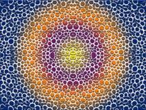 Círculos rachados coloridos do centro a afiar fotografia de stock