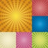 Círculos radiales Imágenes de archivo libres de regalías