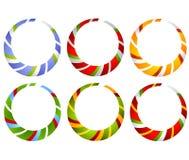 Círculos rayados del bastón de caramelo libre illustration
