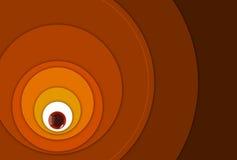 Círculos redondos armónicos que crecen hacia fuera stock de ilustración