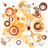 Círculos retros Imagens de Stock