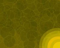 Círculos retros anaranjados Backgroun Foto de archivo libre de regalías