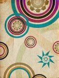 Círculos retros azuis 2 - textura de papel envelhecida Imagens de Stock
