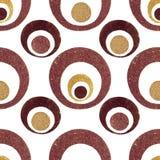 Círculos retros del brillo de oro Imágenes de archivo libres de regalías
