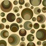 Círculos retros en verde Fotos de archivo