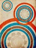 Círculos retros - textura de papel envelhecida Fotos de Stock