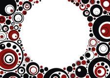 Círculos rojos y negros Ilustración del Vector