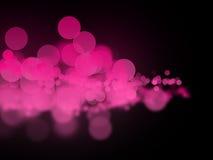 Círculos rosados abstractos del bokeh en fondo oscuro imágenes de archivo libres de regalías